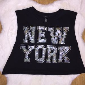 Forever 21 New York crop tank top